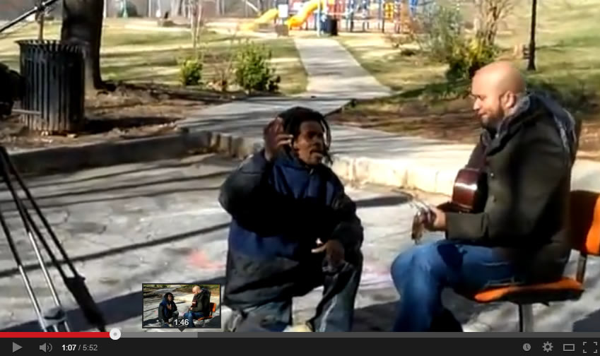 Homeless Man Sings with Carlos Whittaker, a very Moving Performance