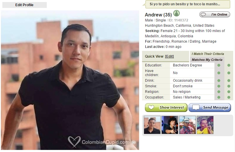 Colombian Cupid Profile